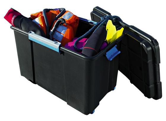 Aufbewahrungsbox Scuba XL Premium 106l Schwarz - Blau/Schwarz, KONVENTIONELL, Kunststoff (73,5/46/44,5cm) - Keter