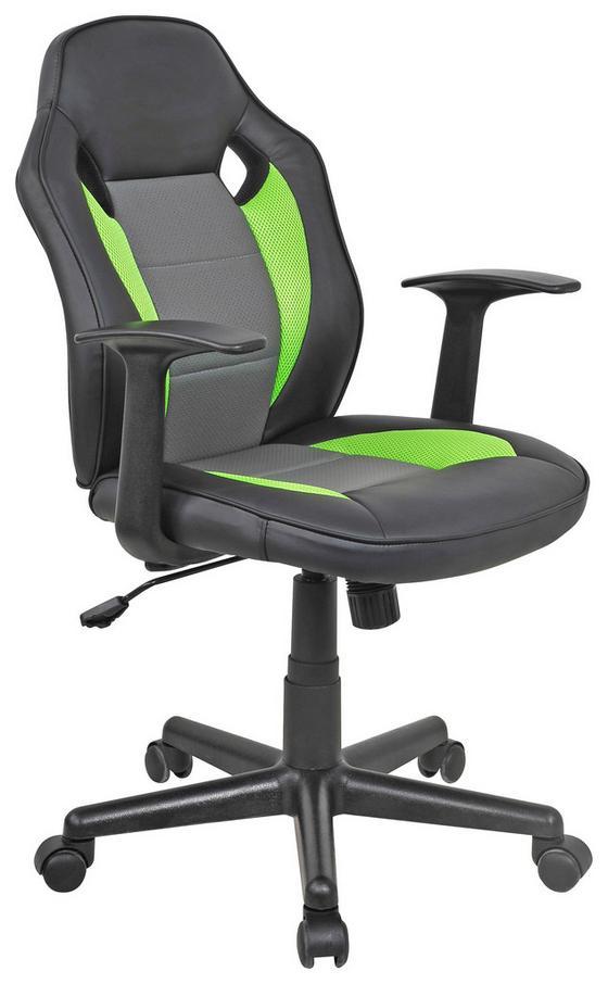 Otočná Židle Billy - šedá/černá, Moderní, kov/textil (59,5/89-99/60,5cm)