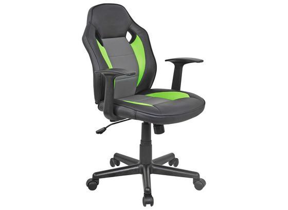 Otočná Židle Billy - šedá/černá, Moderní, kov/textilie (59,5/89-99/60,5cm)