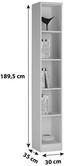 Regal 4-You YUR06 - Weiß, MODERN, Holzwerkstoff (30/189,5/35,2cm)
