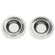 Abflusssieb-Set 2 teilig - Silberfarben, KONVENTIONELL, Metall (7cm)