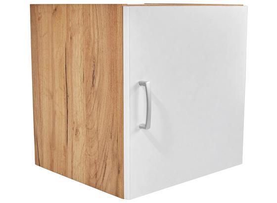 Nadstavec Na Skriňu Tio - farby dubu/biela, Konvenčný, kompozitné drevo (45/43/37,5cm)