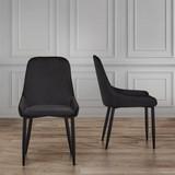 Židle Enna - černá, Moderní, kov/textil (48/85/58cm) - Mömax modern living