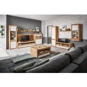 Schrank Kashmir New B: 57cm Eiche Dekor + Weiß - Eichefarben/Weiß, MODERN, Holzwerkstoff (57/192/41cm) - James Wood