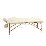 Massageliege Gestell: Holz, Verstellbar - Creme/Naturfarben, Basics, Holz/Textil (217/92/86cm)