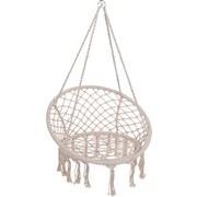 Hängesessel Beige - Beige, Basics, Textil/Metall (80cm)