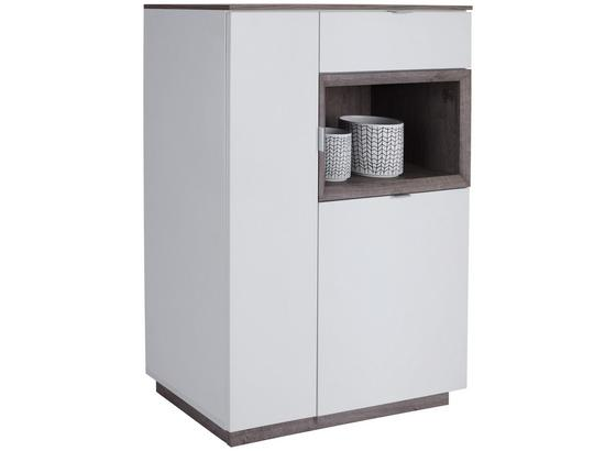 Kommode Nagos - Eichefarben/Weiß, MODERN, Holzwerkstoff (90/112,4/36,9cm)