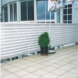 Sichtschutz Ibiza - Weiß/Grau, KONVENTIONELL, Kunststoff (90/500cm)