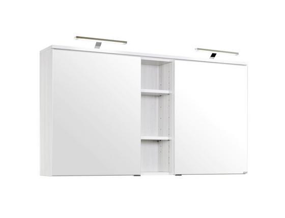 Spiegelschrank Mailand 120 cm Weiß - Weiß, MODERN, Holzwerkstoff (120/66/20cm)