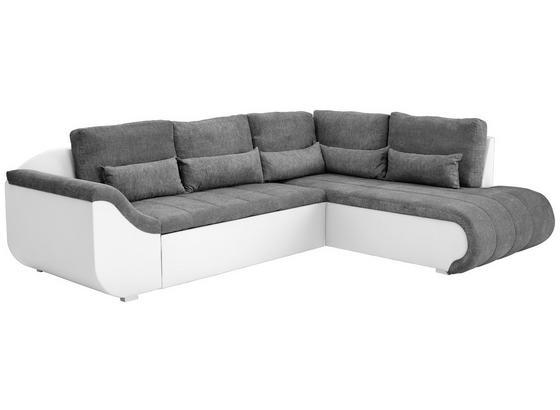 Wohnlandschaft In L-Form Carisma 300x210cm - Dunkelgrau/Schwarz, MODERN, Holz/Textil (300/210cm) - Ombra