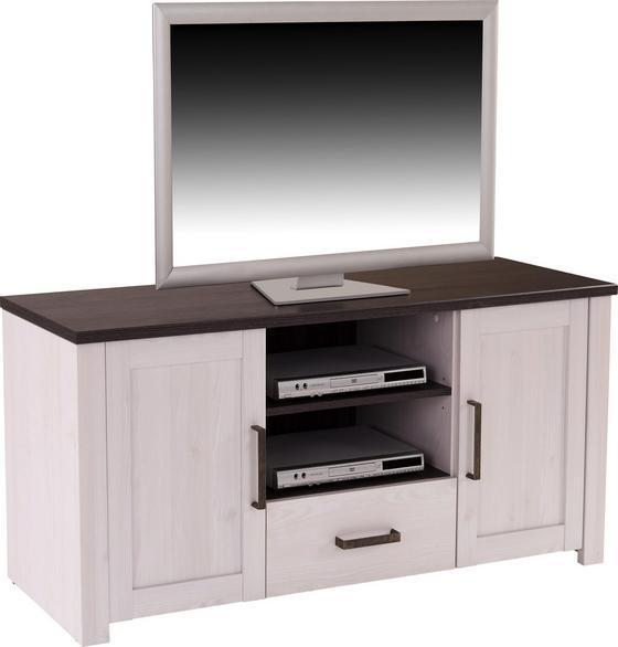 Tv Díl Provence - bílá/barvy wenge, Romantický / Rustikální, dřevěný materiál (153,9/63,9/42cm) - James Wood