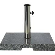 Sonnenschirmständer Simona - Schwarz/Grau, KONVENTIONELL, Stein/Metall (45/37/45cm) - Ombra