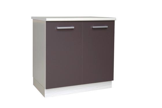 Skrinka Pod Drez Margaret - sivá/biela, Moderný, drevený materiál (80/85/52cm)