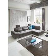 Wohnlandschaft in L-Form Larry 306x197 cm - Silberfarben/Grau, MODERN, Holz/Holzwerkstoff (306/197cm) - Luca Bessoni