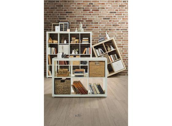 Regál Aron 6 Bílá - Moderní, kompozitní dřevo (117,2/83,4/35cm)