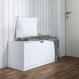 Botník Basic - bílá, Moderní, dřevo (87/45/40cm) - MODERN LIVING