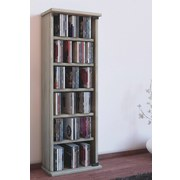 CD-Regal Vetro B: 31 cm - Eichefarben, KONVENTIONELL, Glas/Holzwerkstoff (31/92/18cm) - Livetastic