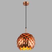 Hängeleuchte Amelie - Kupferfarben, MODERN, Textil/Metall (30/120cm)