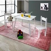 Kindersitzgruppe Bambini 3-teilig Weiß - Weiß, MODERN, Holz/Holzwerkstoff (55/27/45,5/53,5/55/27cm)