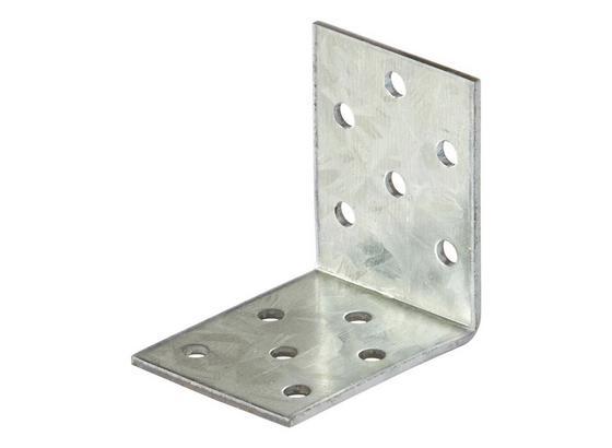 Winkelverbinder B/l/c: ca. 40/50/2 mm - Alufarben, KONVENTIONELL, Metall (4/5cm)
