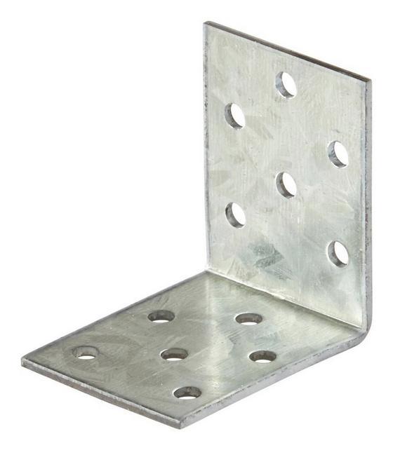 Winkelverbinder B/l/h: ca. 40/50/2 mm - Alufarben, KONVENTIONELL, Metall (4/5cm)