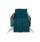 Wohndecke Theres - Petrol, MODERN, Textil (130/170cm) - Luca Bessoni
