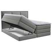 Boxspringbett mit Topper & Bettkasten 160x200 Swing - Taupe, Design, Textil (160/200cm) - Xora