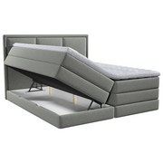 Boxspringbett mit Topper Swing 140x200 cm Taupe - Taupe, Design, Holzwerkstoff/Textil (140/200cm) - Xora