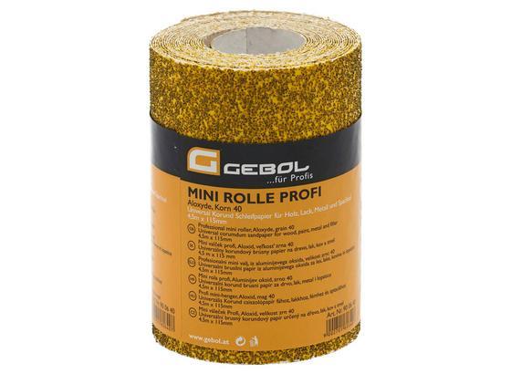 Schleifpapier Körnung 60 - Gelb, KONVENTIONELL (450cm) - Gebol
