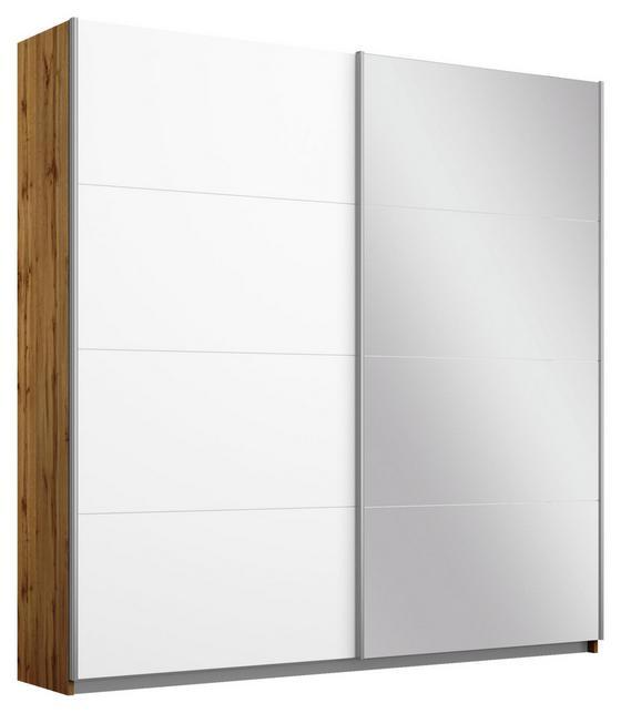 Schwebetürenschrank Belluno 181 cm Wotan/Weiß/sp. - Eichefarben/Weiß, MODERN, Holzwerkstoff (181/210/62cm)
