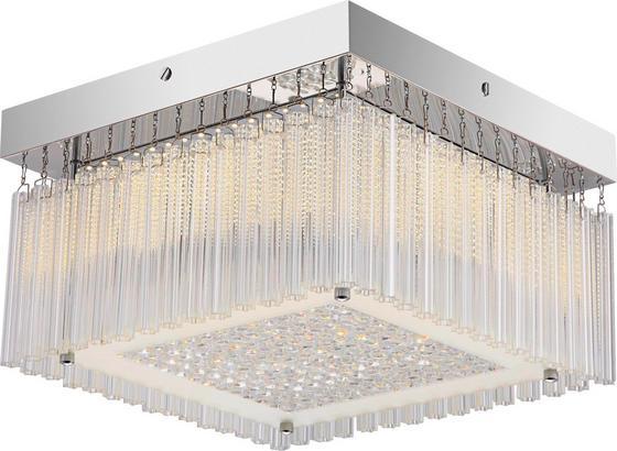 Deckenleuchte Dorotea - Chromfarben, MODERN, Glas/Metall (30/30/17,5cm) - Luca Bessoni