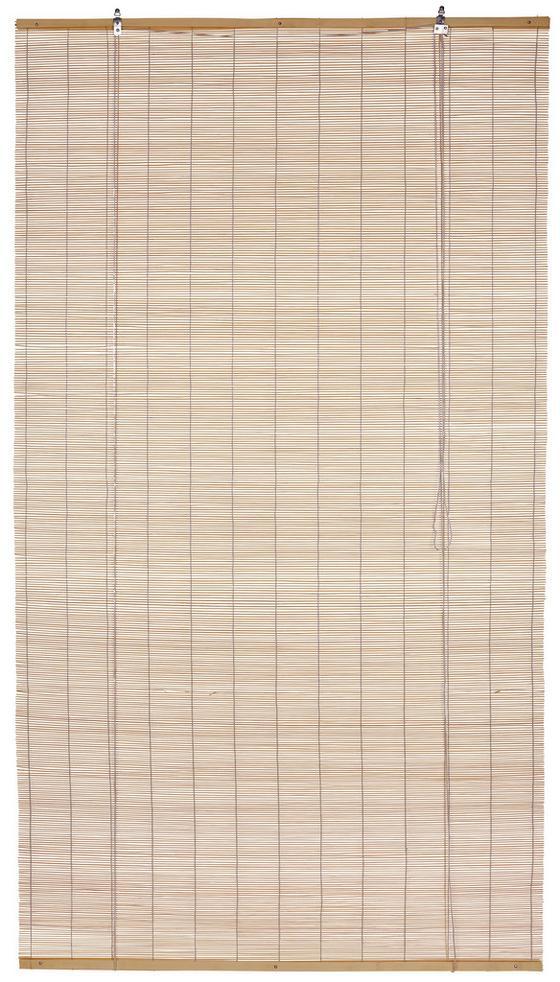 Rollo Willi - Naturfarben, KONVENTIONELL, Holz (80/180cm) - Ombra