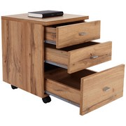 Rollcontainer 4-You New - Eichefarben, MODERN, Holz (43/53/40cm)
