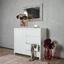 Komoda Lario - biela, Moderný, kompozitné drevo (112,4/96,4/40cm)