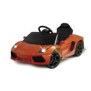 Kinderautor Ride-On Lamborghini Aventador Orange - Schwarz/Orange, Basics, Kunststoff (112,2/63,5/43cm)