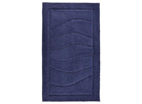 Badematte Lasse - Dunkelblau, ROMANTIK / LANDHAUS, Textil (60/100cm) - James Wood
