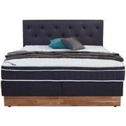 Boxspringbett Mara 160x200 Grau/blau - Baltimorefarben, KONVENTIONELL, Holz/Textil (160/200cm)
