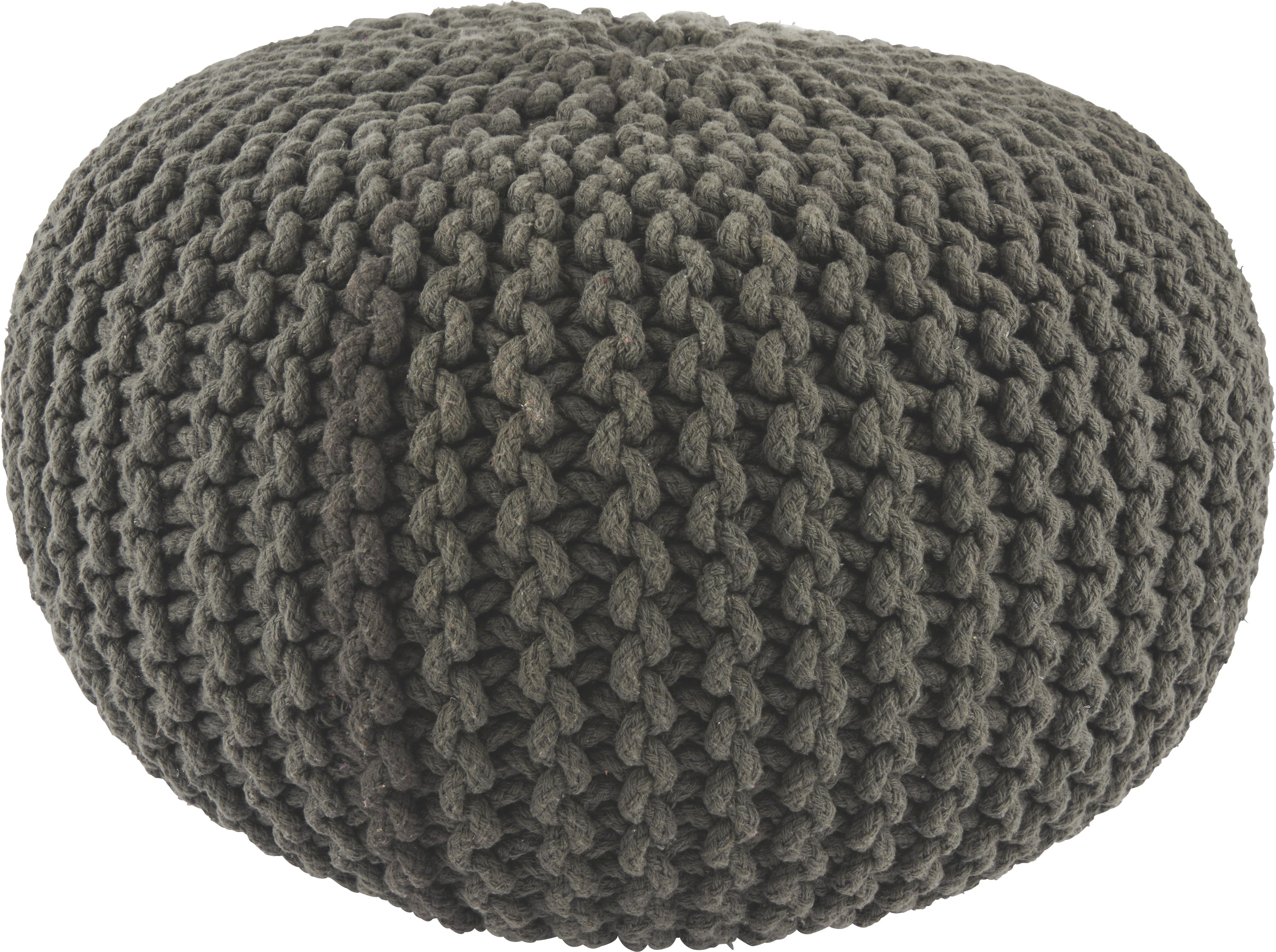 Sedák Aline - antracitová, textil (55/35cm) - PREMIUM LIVING