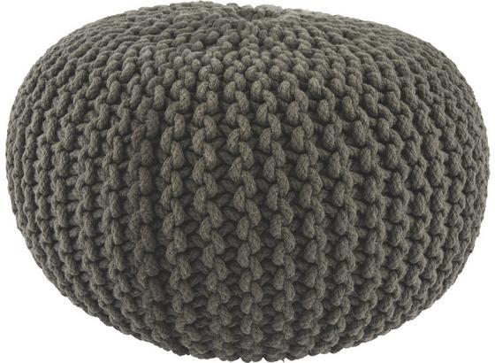 Sedák Aline - antracitová, textil (50/30cm) - Premium Living