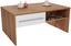 Couchtisch Melbourne - Eichefarben/Weiß, MODERN, Holzwerkstoff (105/45/60cm)