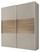 Schwebetürenschrank Includo 188cm Sand/puccini - Sandfarben/Eichefarben, MODERN, Glas/Holzwerkstoff (188/222/68cm)