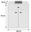 Kommode B:60cm Perlweiß Dekor - Weiß, MODERN, Holzwerkstoff (60/70/30cm)
