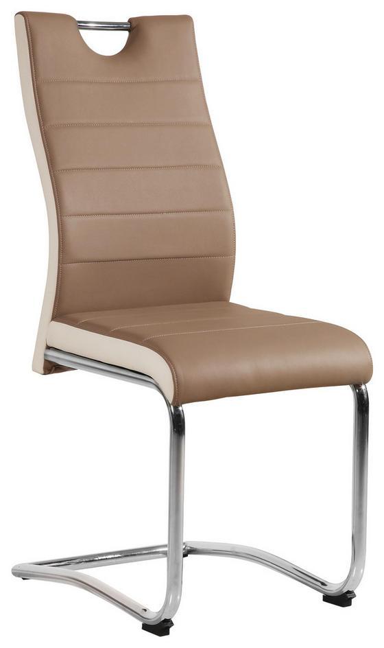 Stolička Twizy - biela/farby chrómu, Konvenčný, kov/textil (43/98/58cm)