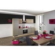 Küchenblock Riva B: 280cm Eiche/Champagner - Champagner/Eichefarben, MODERN, Holzwerkstoff (280cm)