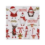 Serviette Cool Christmas - Rot/Schwarz, KONVENTIONELL, Papier (33/33cm)