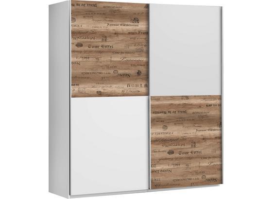 Skriňa S Posuvnými Dvermi Express - farby dubu/sivá, Štýlový, kov/kompozitné drevo (170/191/61cm)