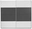 Schwebetürenschrank Feldkirch 136x229cm - MODERN, Holzwerkstoff (136/229/62cm)