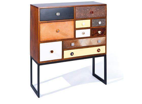 Kommode Flims B: 90 cm Mehrfarbig - Gelb/Beige, Basics, Holz/Holzwerkstoff (90/105/35cm) - Livetastic