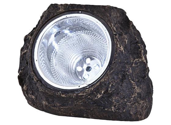 Solarlampe Emilia - Grau, KONVENTIONELL, Kunststoff (14,5/11,5/11cm) - Homezone