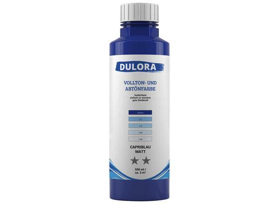 Abtönfarbe 500ml Capriblau Matt - Blau, Kunststoff (0,500l) - Dulora